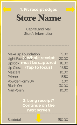 scan receipt capitastar